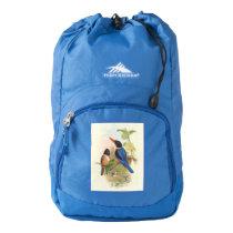 Kingfisher Birds Animals Vintage Wildlife Backpack