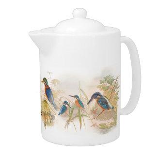 Kingfisher Birds Teapot