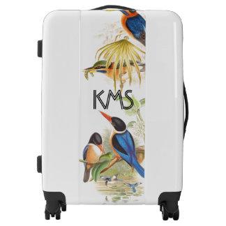 Kingfisher Birds Wildlife Animal Monogram Luggage