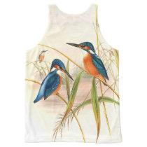 Kingfisher Birds Wildlife Animal Pond All-Over-Print Tank Top
