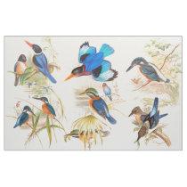 Kingfisher Birds Wildlife Animals Pond Fabric