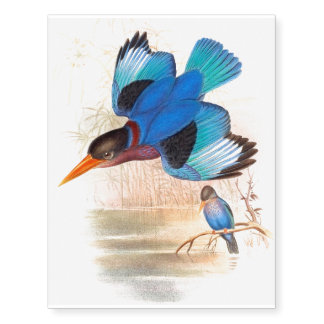 Kingfisher Birds Wildlife Animals Pond Tattoo