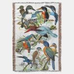 Kingfisher Birds Wildlife Pond Throw Blanket