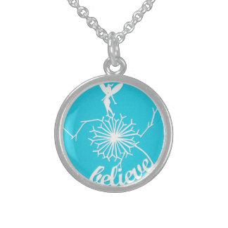 Kingfisher blue fairy dandelion necklace