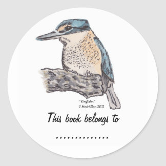 Kingfisher  Book Plate Label