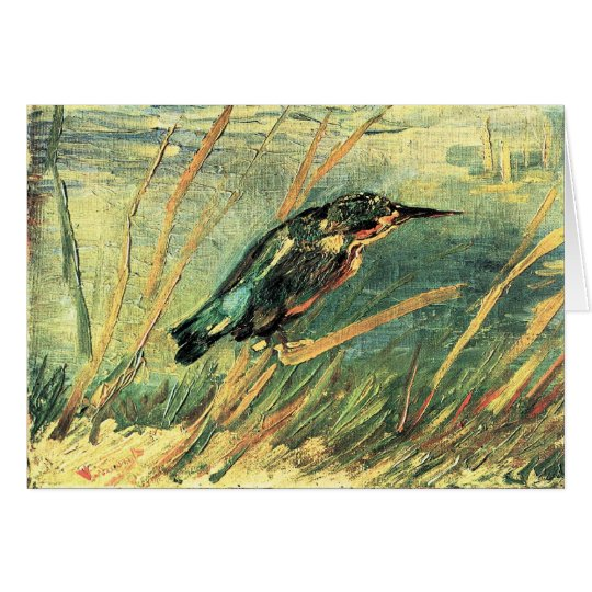 Kingfisher by Vincent van Gogh Card
