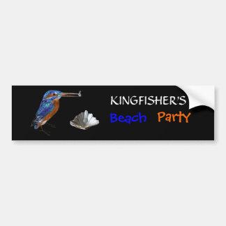 KINGFISHER  , Electric Blue, Black Car Bumper Sticker
