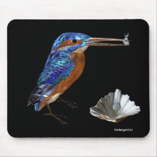 KINGFISHER  , Electric Blue, Black Mouse Pad
