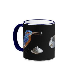 KINGFISHER  , Electric Blue, Black Coffee Mugs
