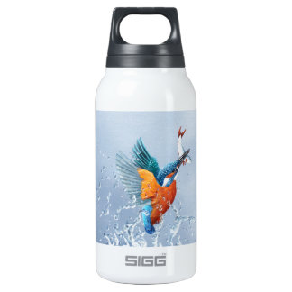 Kingfisher flying out of the water 10 oz insulated SIGG thermos water bottle