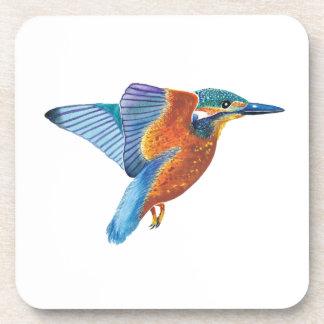 Kingfisher in flight cork coasters set of 6
