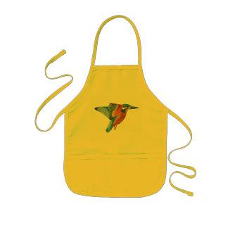 Kingfisher in flight kitchen craft apron