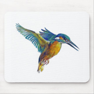 Kingfisher in flight, mouse pad