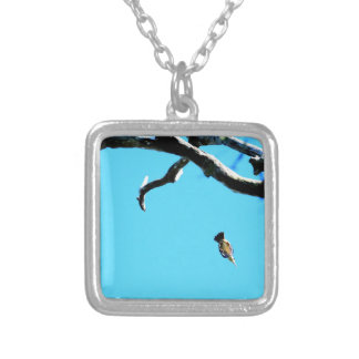 KINGFISHER IN FLIGHT QUEENSLAND AUSTRALIA SILVER PLATED NECKLACE