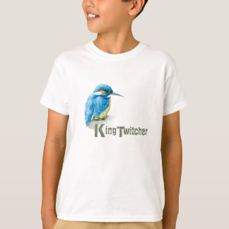 Kingfisher King Twitcher Birdwatcher kids t-shirt