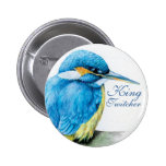 Kingfisher King Twitcher button/badge 2 Inch Round Button