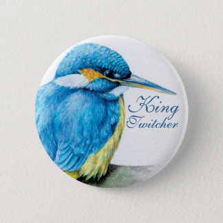 Kingfisher King Twitcher button/badge Pinback Button