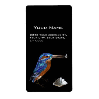 KINGFISHER PERSONALIZED SHIPPING LABEL
