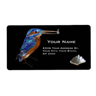 KINGFISHER PERSONALIZED SHIPPING LABELS