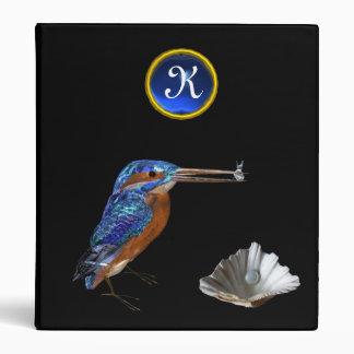 KINGFISHER MONOGRAM , Blue Sapphire, black Binder