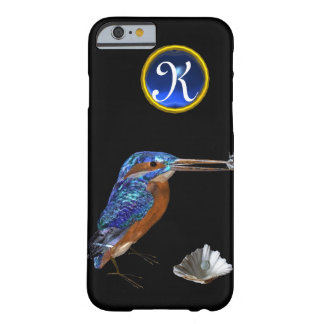 KINGFISHER  MONOGRAM , Electric Blue, Black Barely There iPhone 6 Case