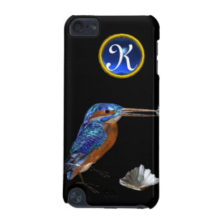 KINGFISHER  MONOGRAM , Electric Blue, Black iPod Touch (5th Generation) Case