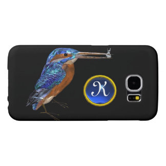 KINGFISHER  MONOGRAM , Electric Blue, Black Samsung Galaxy S6 Case