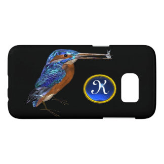 KINGFISHER  MONOGRAM , Electric Blue, Black Samsung Galaxy S7 Case
