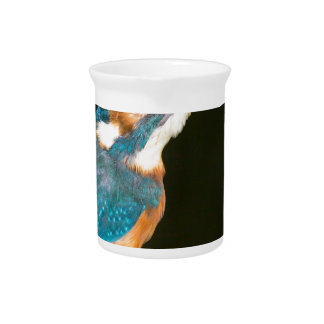 Kingfisher on a stick pitcher