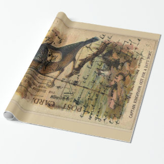 Kingfisher Postcard Wrapping Paper
