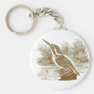 Kingfisher Woodcut Keychain