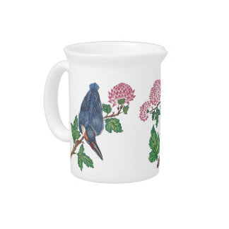 Kingfishers and Blossoms Pitcher