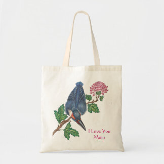 Kingfishers and Blossoms Tote Bag