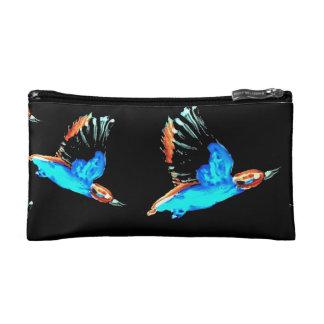 Kingfishers at Night Cosmetic Bag