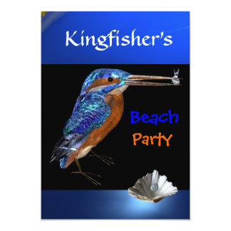KINGFISHERS  BEACH PARTY,Blue,Black Card