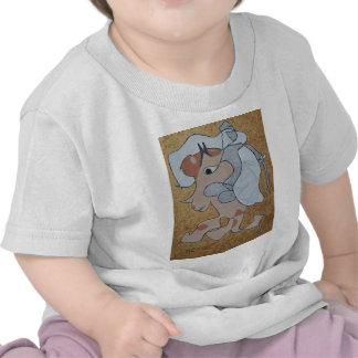 Kinght en el satén blanco camiseta
