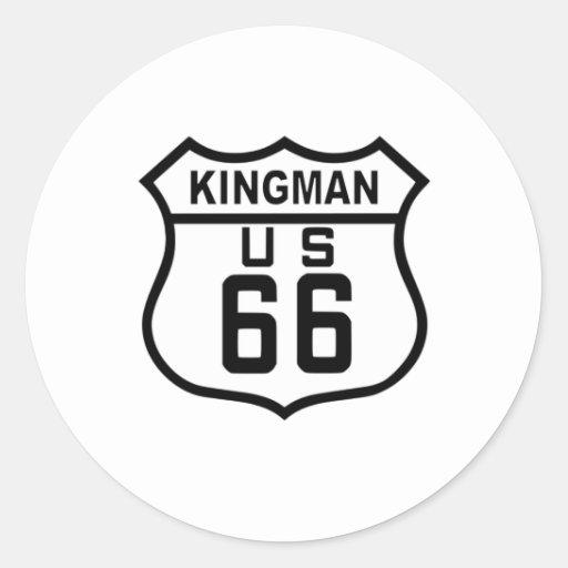 Kingman, ruta 66 de Arizona Etiqueta Redonda