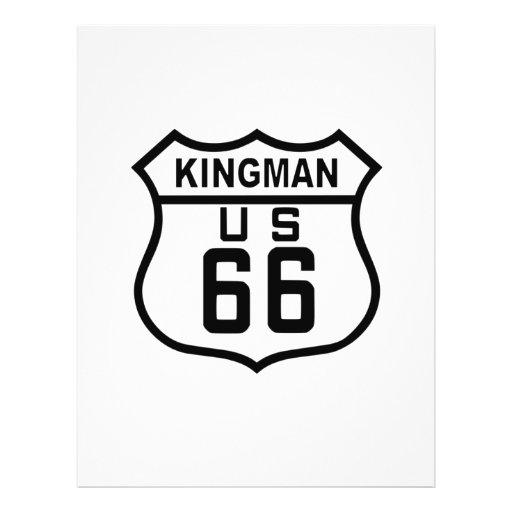"""Kingman, ruta 66 de Arizona Folleto 8.5"""" X 11"""""""