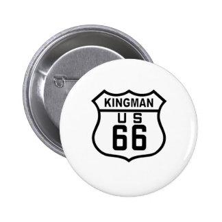 Kingman, ruta 66 de Arizona Pin Redondo De 2 Pulgadas