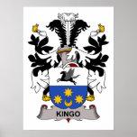 Kingo Family Crest Poster