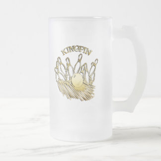 KINGPIN FROSTED GLASS BEER MUG