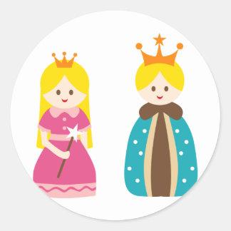 KingQueen1 Classic Round Sticker