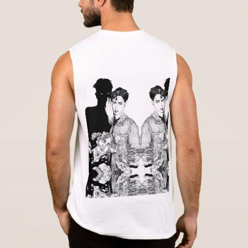 Kingsalien Men Clothing Tops T_Shirts  Tank top