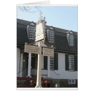 Kings Arms Tavern sign Colonial Williamsburg Card