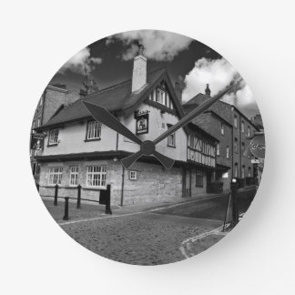 Kings arms. The pub that floods. Clocks