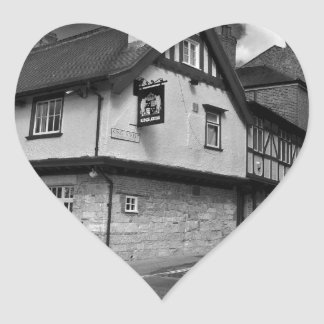 Kings arms. The pub that floods. Heart Sticker