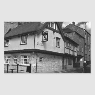 Kings arms. The pub that floods. Rectangular Sticker