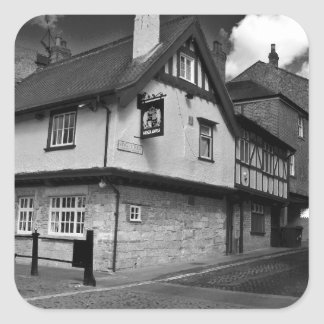 Kings arms. The pub that floods. Square Sticker