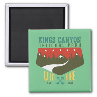 Kings Canyon National Park California 2 Inch Square Magnet