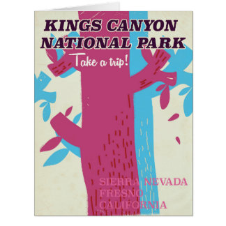 kings canyon national park, California poster Card